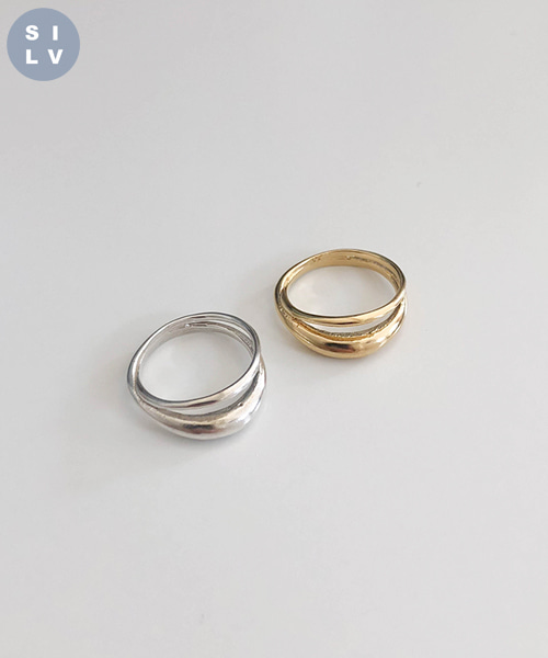 (silver925) duet ring