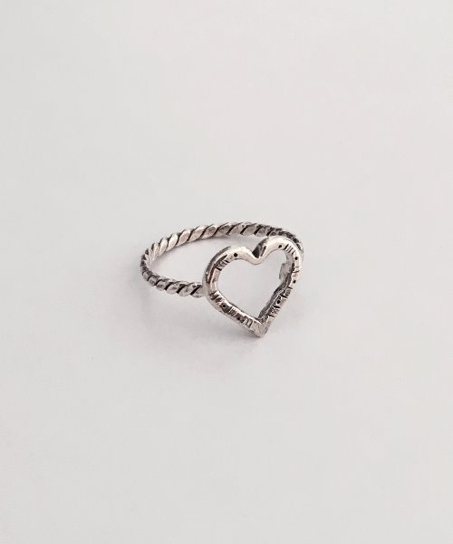 (silver925) vintage heart ring