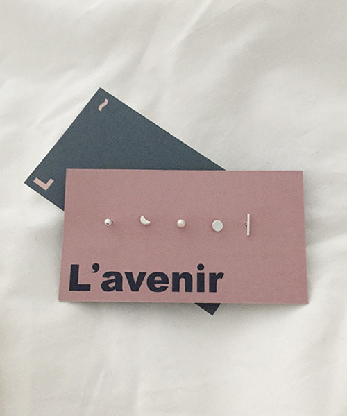 (made lavenir) basic earring set