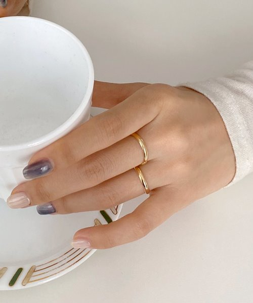 (silver925) gold engage ring