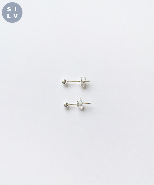 (silver925) ball earring