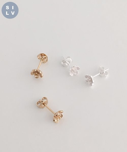 (silver925) mini flower earring