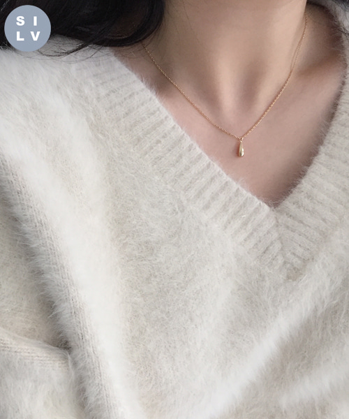 (silver925) tears necklace