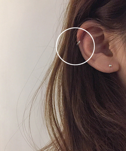 (silver925) tiny onetouch earring
