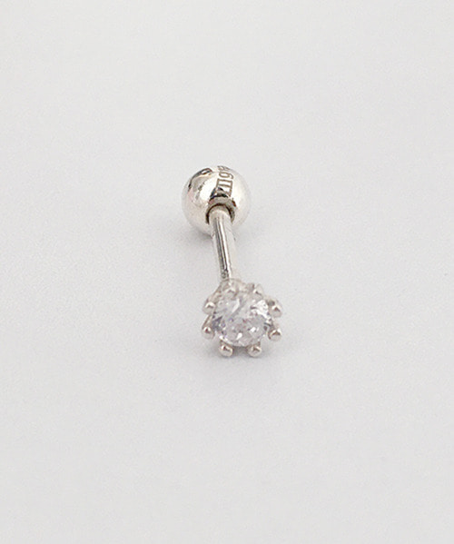 (silver925) white cubic piercing
