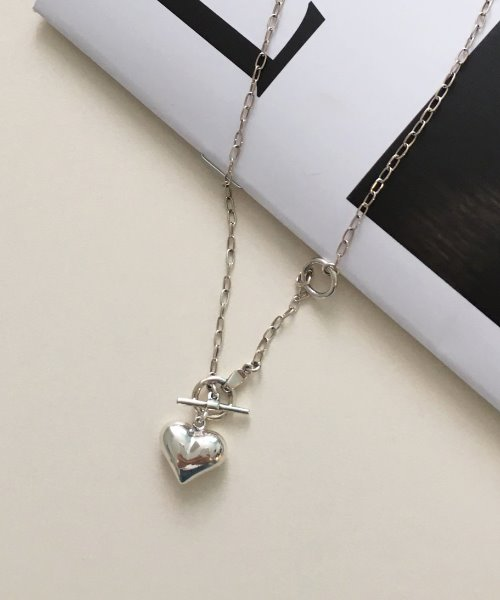 (silver925) love TO necklace