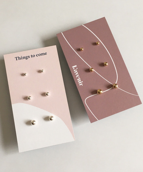 (silver925) ball earring set
