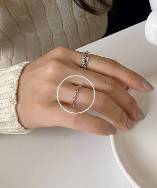 (silver925) thread ring