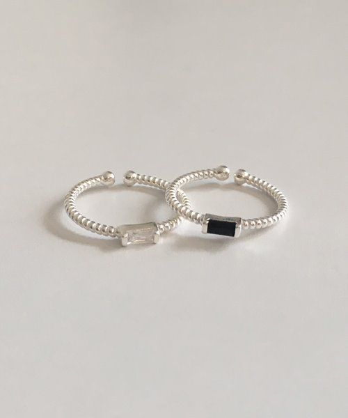 (silver925) oblong ring