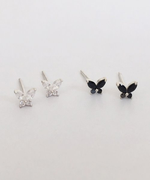 (silver925) sparkle fly earring